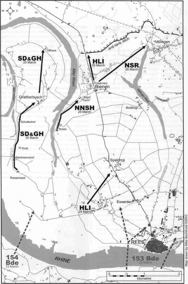 Map of Operation Plunder